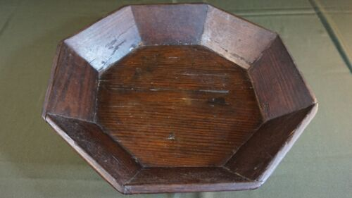 Fine Large Size Korean Joseon Dynasty 8 Sided Wooden Food Tray 15.8""