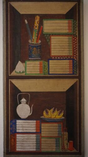 Very Fine Early 20th Century Korean Hand Painting CheckGoRi on Jangji & Pigment