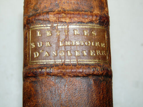 GOLDSMITH: Lettres Histoire Angleterre 1-2 Regnault 1789 Lettere Inghilterra 2a