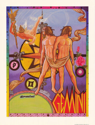 POSTER: ZODIAC - GEMINI  by FERET - SIGNED & NUMBERED   #12-490  RBW1 L