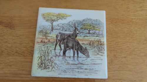 PILKINGTON ENGLAND   WALL TILE Dik-diks