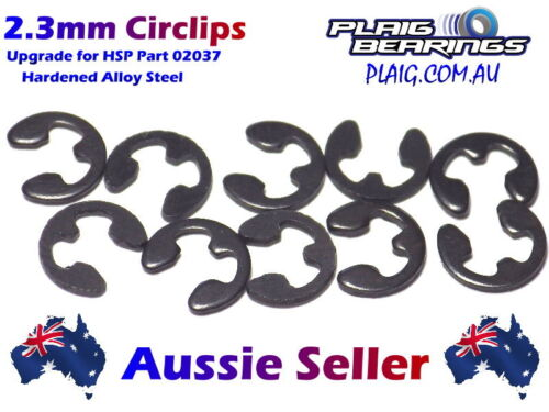 UPGRADE For HSP Part 02037 2.3mm Circlips Strong & Re-Usable Steel PACK OF 10