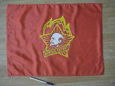 _ SOVIET Silk FLAG with LENIN with Authentic Paper Label ( made in 1980's )Original Period Items - 13983