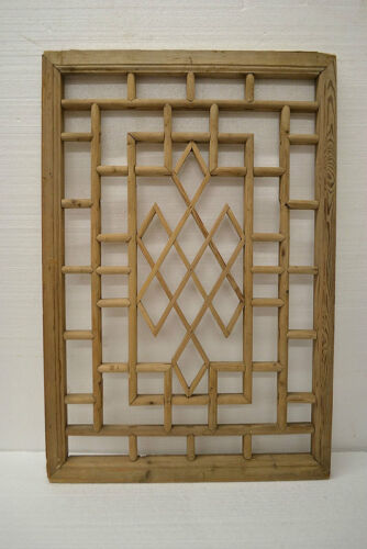 Chinese Antique Wood Carving Panel Window Shutter Wall Art Home Decor DE03-03