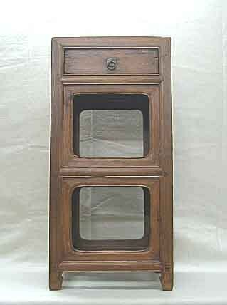 Chinese Antique Natural Wood Side Tea Table Nightstand with Drawer X-2a