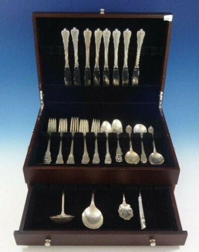 Grand Colonial by Wallace Sterling Silver Flatware Set For 8 Service 43 Pieces