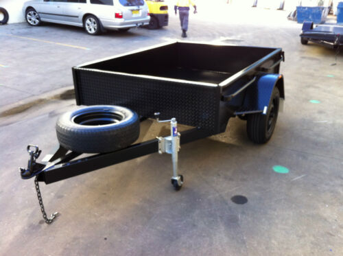 BRAND NEW SINGLE AXLE Box Trailer 7X5FT H DUTY DEEP SIDED 7X4 8X5 ALSO AVAIL
