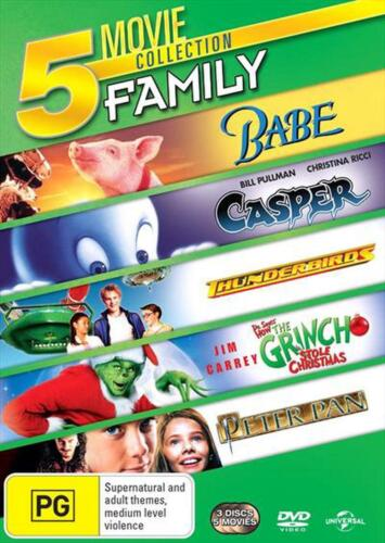Babe / Casper / Thunderbirds / The Grinch / Peter Pan (5 Movie Kids) [3 Discs] -