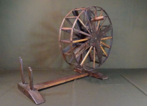 "Very Rare Korean Joseon Dynasty Wood Spinning Wheel ""Mool Lae"""