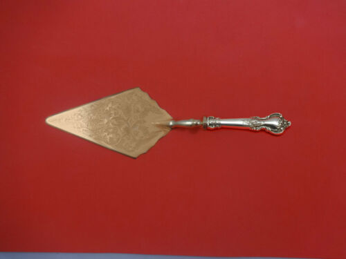 Delacourt by Lunt Sterling Silver Pastry Server Fancy Vermeil Custom Made
