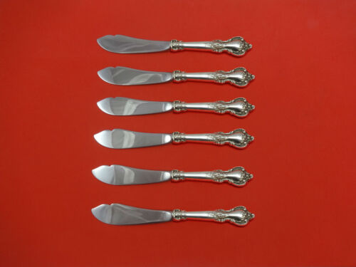 Delacourt by Lunt Sterling Silver Trout Knife Set 6pc HHWS  Custom Made