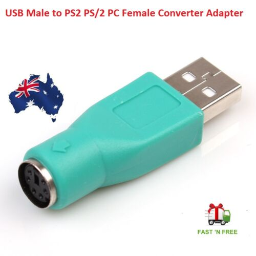 USB Male To PS2 Female Adapter Converter for Computer PC Keyboard Mouse  PS/2