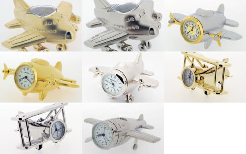 Novelty Miniature Aeroplane Clock. 5 to choose from