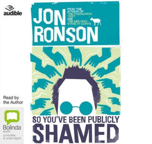 So You've Been Publicly Shamed by Jon Ronson Compact Disc Book Free Shipping!