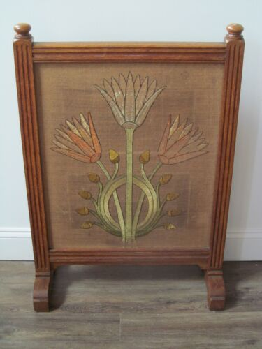 EXCEPTIONALLY CHOICE ARTS & CRAFTS TAPESTRY FIRESCREEN-MUST SEE!