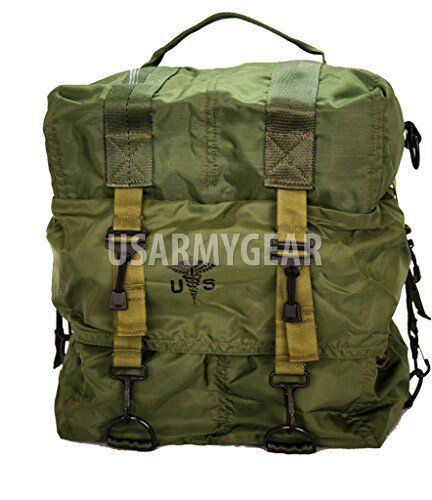 Made in USA Army Military GI Medical Instrument Supply Set Case Bag OD Green Other Military Surplus - 588