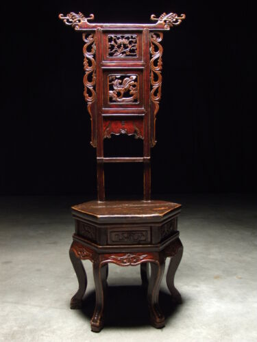 17th Century Antique Wash Stand Carved Dragon Coat Rack