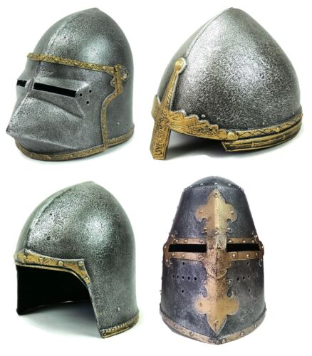Medieval Knight Helmet Fancy Dress Shield Accesorie Play Knight Stage Lepianka