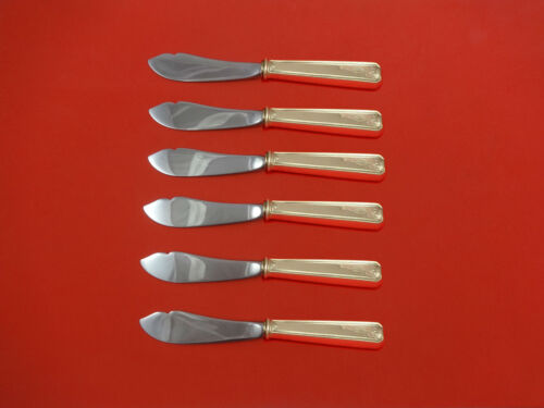 Lady Baltimore by Whiting Sterling Silver Trout Knife Set 6pc HHWS  Custom Made