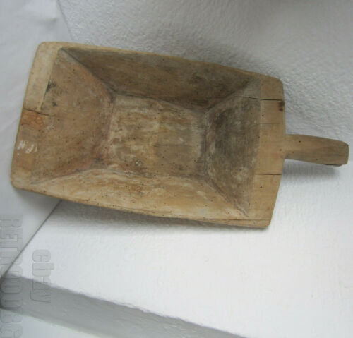 19thC > Antique Primitive Wooden Flask Wine Whiskey Keg old Barrel  with handle