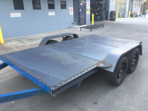 Car Trailer Tandem axle 12X6.6FT 2T USE4 RACE FORD HOLDEN NO RAMPS OR PAINT INCL
