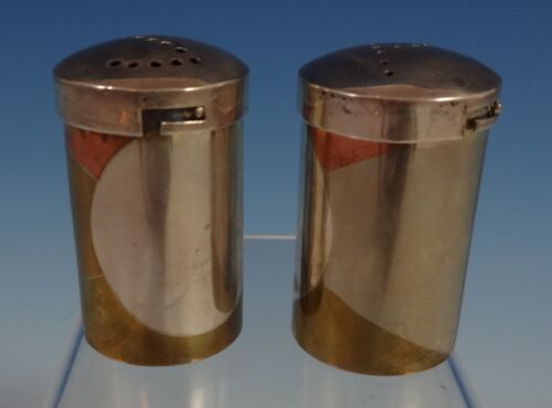 """Taxco Mexican Mexico Sterling Silver Salt & Pepper Shakers 2pc 2"""" Tall (#0871)"""