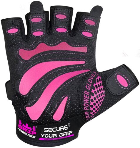 WOMEN'S FIT WEIGHT LIFTING MIMI GLOVES Ladies Gym Workout Cross Training PINK