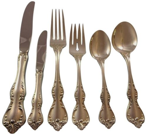 Debussy by Towle Sterling Silver Flatware Set For 12 Service 77 Pieces