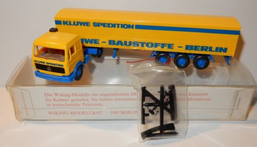 WIKING HO 1/87 CAMION MERCEDES SEMI REMORQUE KLUWE BERLIN TRANSPORT MATERIAUX b2