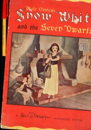 Very RARE C1937 Walt Disney's SNOW WHITE and the SEVEN DWARFS Whitman Publishing
