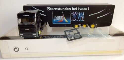 WIKING HO 1/87 CAMION IVECO EUROSTAR SEMI REMORQUE STERNSTUNDEN IN BOX
