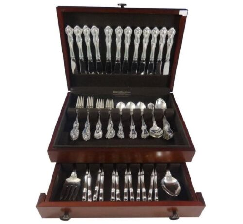 Debussy by Towle Sterling Silver Flatware Set For 12 Service 75 Pieces