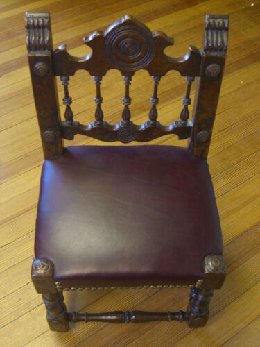 Antique Child's Chair hand-carved Circa 18th Century