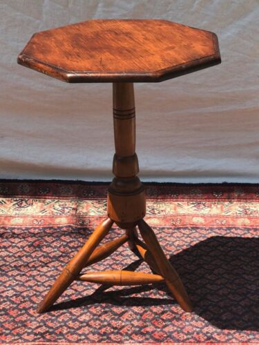 IMPORTANT WILLIAM & MARY EARLY 18TH CENTURY CANDLESTAND WITH RARE STRETCHER BASE