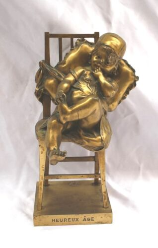 MAGNIFICENT 1900 FRENCH DORE BRONZE STATUE SIGNED JUAN CLARA, FOUNDRY