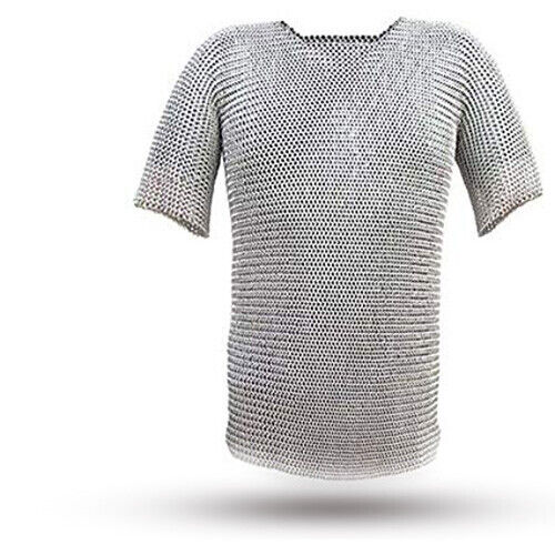 Butted Aluminium Chainmail Shirt Medieval Chainmail Haubergeon Armor CostumeReenactment & Reproductions - 156374