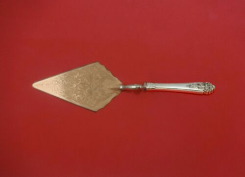 Queen's Lace by International Sterling Pastry Server Fancy Vermeil HH Custom