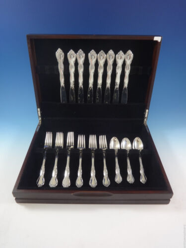 Rose Tiara by Gorham Sterling Silver Flatware Set For 8 Service 32 Pieces