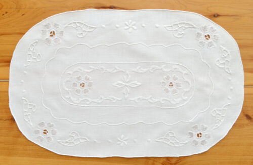 """Brand New Vintage Linen Table Centre Ideal Wedding Gift 10"""" x 16"""""""