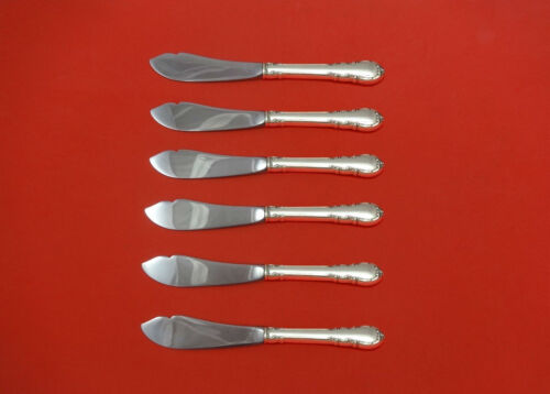 Modern Victorian by Lunt Sterling Trout Knife Set 6pc. HHWS  Custom Made 7 1/2""