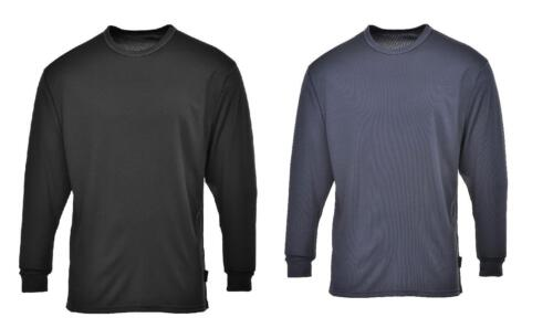 Portwest B133  Workwear Thermal Baselayer Top Warm High Quality Black Charcoal