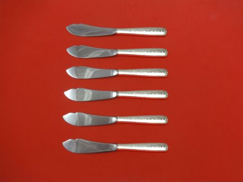 """Rambler Rose by Towle Sterling Silver Trout Knife Set 6pc. Custom Made 7 1/2"""""""