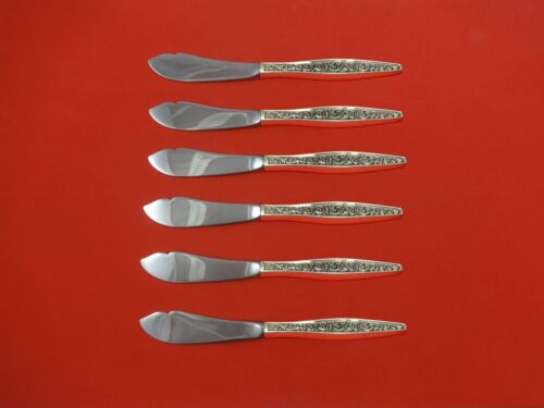 Renaissance Scroll by Reed & Barton Sterling Silver Trout Knife Set 6pc. Custom