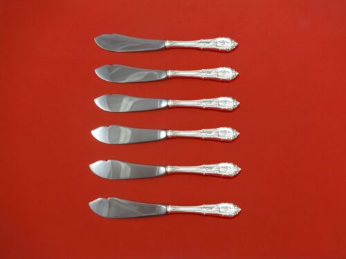 Rose Point by Wallace Sterling Silver Trout Knife Set 6pc. Custom Made 7 1/2""