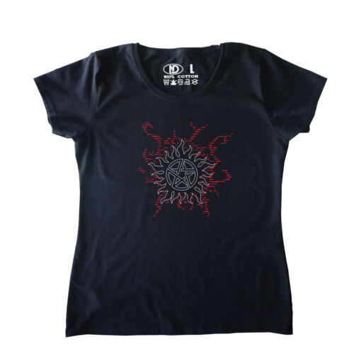 Protection Anti-Possession Tattoo WOMENS T Shirt for Supernatural Enthusiasts