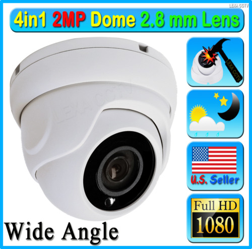 LEXAcctv AHD TVI HD 2MP 1080P Security Camera Wide 2.8mm Lens Dome CCTV Outdoor!