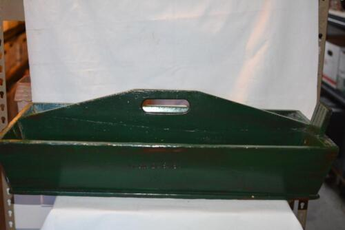 RARE Fishing Box Wood Trough Bin Table Tool Tote Farm Table Primitive Farmhouse
