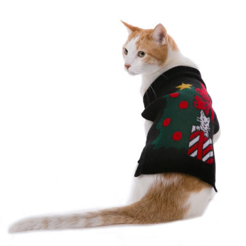 Whisker City My Ugly X-Mas Cat Sweater Lightweight Comfortable Pullover Style