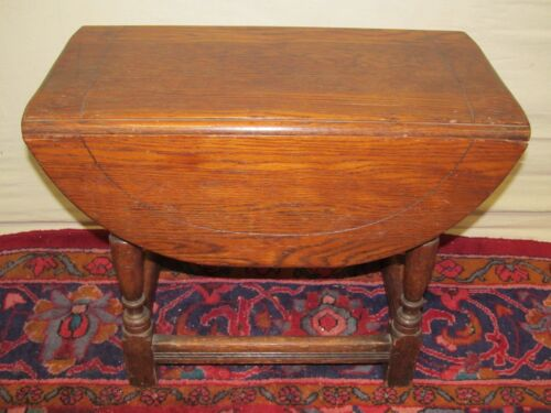 ANTIQUE KITTINGER WILLIAM & MARY STYLE OAK DROP LEAF BUTTERFLY TABLE