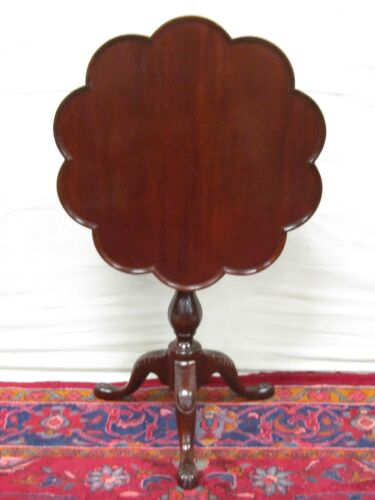 BAKER FURNITURE CHIPPENDALE MAHOGANY TILTING TEA TABLE - CHARLESTON COLLECTION